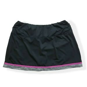 Tail Womens Tennis Golf Skort Skirt with Shorts Pockets Black Sz L Large