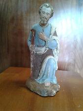 GRAND SANTON DE CRECHE D ' EGLISE 18 CM EN PLATRE : JOSEPH