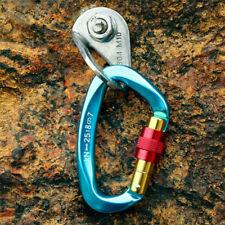 25Kn D-Ring Auto Locking Climbing Carabiner Clip Outdoor Aluminum