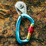 25KN Aluminum Carabiner Screw Locking Hook Rock Climbing Caving Rescue D-Shape