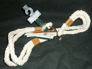 "New RLL Ralph Lauren Anchor Cotton Rope Belt womens 30-32"" nautical boat theme"