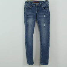 Farlow Jeans Distressed Destroyed Faded Blue Denim Jeans Tag Size 7