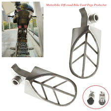 2XMotorbike Bike Foot Pegs Protector Guard Pad Forefoot Pedals Steel Universal