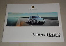 Manuel Porsche Panamera S E - Hybrid Type 970 Support 04/2013