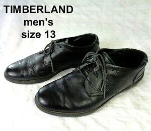 TIMBERLAND Mens Size 13 BLACK Leather Lace-Up A12BD FRONT COUNTRY TRAVEL Shoes
