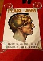 Pearl Jam Chicago Poster Aug 18/20 2018 Matt Cunningham Brain Baby