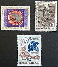 AUTRICHE timbre - Yvert et Tellier n°1399 à 1401 n** stamp Austria(cyn5)