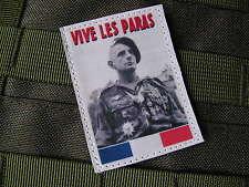 SNAKE PATCH - écusson VIVE LES PARAS Général Bigeard FRANCE TAP RPIMa Algérie