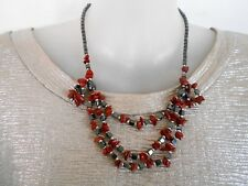 SALE Hematite and Red Jasper Necklace was $18 NOW $14