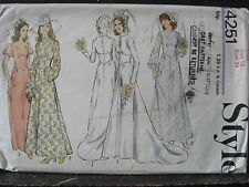 Vintage 1970's Sewing Pattern Style 4251 Wedding  Bridesmaid Dress sz 12 B 34""