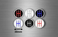 6x gear sticker 30mm emblem badge speed manual pattern decal shifter knob