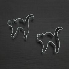 1pc Halloween Cat Shape Aluminum Biscuit Mold Bakeware Fondant Cake Decor Molds