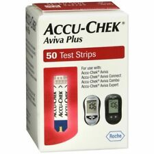 1-50 ct  bx Mint Accu-Chek Aviva Plus Blood Glucose Test Strips Exp 7/31/2021