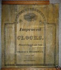 Chauncy Boardman Bristol Conn. Label 1830s Wood Works Clock Antique Part 2 Piece