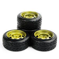 4Pcs Drift Tires Rims Set For HPI Racing 1:10 RC On-Road Car PP0292/147 12mm Hex