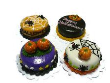 4 Halloween Cakes Dollhouse Miniatures Food Deco Holiday Season -3