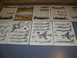 VINTAGE..EXPORT HAWKER HUNTERS..27 PROFILES/PHOTOS...RARE! (900S)