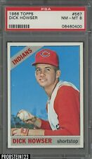 1966 Topps #567 Dick Howser Cleveland Indians PSA 8 NM-MT