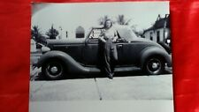 Vintage Black&White Photograph Woman with Vintage Car 8X10
