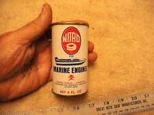 Vintage NITRO 9 For Marine Engines Nitro Fuel Powered Fuel Additive, NOS
