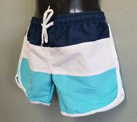 BNWT Boys Sz 5 White Soda Brand Seabreeze Blue Navy White Swim Shorts Trunks