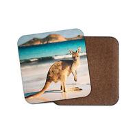 Cute Australian Kangaroo Coaster - Joey Australia Fun Wild Travel Fun Gift #8812
