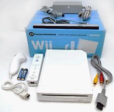Nintendo Wii WHITE Video Game Console Home System Bundle Online RVL-001 gaming B