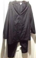 NWOT 20W 3 PC Pant Set Suit Black Only Necessities Roamans J 44x33 Pt 36-42x31