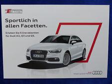 Audi S line selection - A3 Q3 Q5 - Prospekt Brochure 03.2014