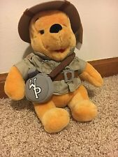 "Disney World Safari 8"" Winnie the Pooh Bear Stuffed Plush Animal Kingdom Toy"
