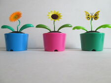 Solar Powered Dancing Bugs With Assorted Pot/Style Colors. 3 Pots In 1 Lot*