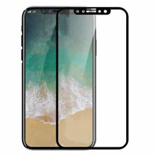 Genuine Full 9H Tempered Glass Premium Screen Protector For iPhone X / 10 Black