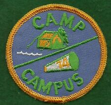 VINTAGE  GIRL SCOUT CAMP PATCH - 1970's CAMP CAMPUS