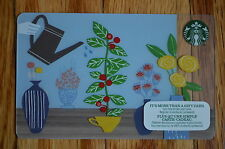 """Canada Series Starbucks """"SPRING WATERING 2015"""" Gift Card - New No Value"""