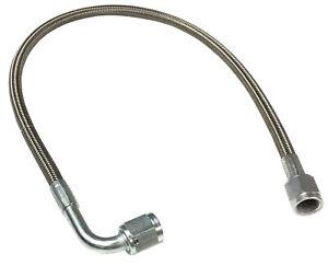 "-4 AN 72"" Stainless Braided TFE Brake Line Straight x 90° -4 Brake hose"