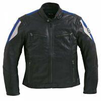 New BMW Club Leather Jacket Men's Medium Black/Blue #76129899222