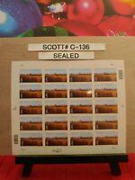 SCOTT # C-136-NINE-MILE PRAIRIE-NEBRASKA-SHEET OF (20) 70 CENT STAMPS
