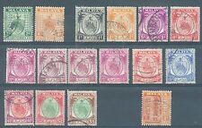 Malaya Negri Sembilan 1935-49 range of 15 to $5 and Jap Occ sg. J162 used