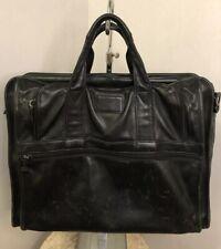 TUMI Laptop Briefcase Black Leather Portable Office