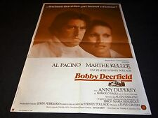 BOBBY DEERFIELD al pacino mathe keller affiche cinema  f1 course automobile 1976