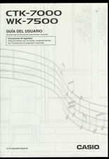 *Spanish Version Factory Casio CTK-7000 WK-7500 Portable Keyboard Owner's Manual
