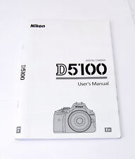 Nikon D5100 Digital Camera English User's Instruction Manual Booklet