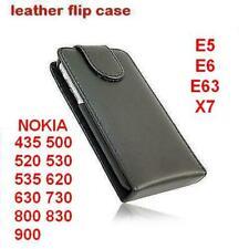 Nokia leather flip case 435 500 520 530 535 620 630 730 800 830 900 E5 E6 E63 X7