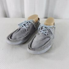 Tretorn Griffen Gray Otto Washed Cotton Canvas Boat Deck Shoes 9.5