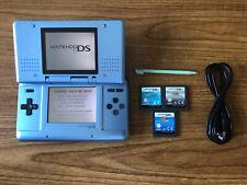 Nintendo DS Original Blue Handheld Console Bundle +3 Games & Charger