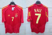 VINTAGE Maillot ESPAGNE Adidas ESPANA camiseta RAUL n°7 Spain shirt S La Roja