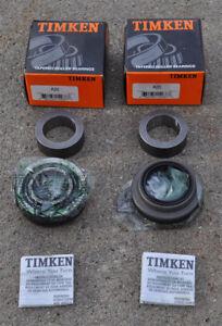 (1pr) Timken USA - Set 20 A20 Axle Wheel Bearing - Race - Seal - Lock Ring PAIR
