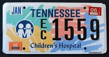 """TENNESSEE """" CHILREN`S HOSPITAL -  KIDS """" 2006 TN Specialty License Plate"""