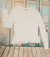 Cato  XL White Lace Crochet Romantic Blouse