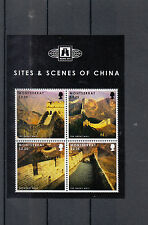 Montserrat 2012 MNH Sites & Scenes of China 4v M/S Great Wall Beijing 2012